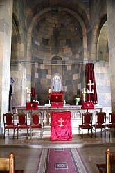 Interiér arménského kostela