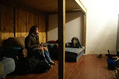 BERZA squot - spací místnost