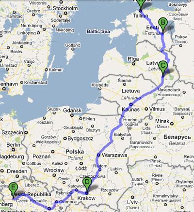 mapa turné