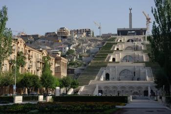 Jerevan - památník Kaskády