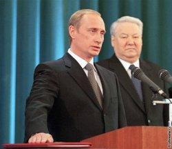 Vladimír Putin a Boris Jelcin
