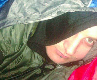 Spaní v dodávce kdesi, teplota venku -10