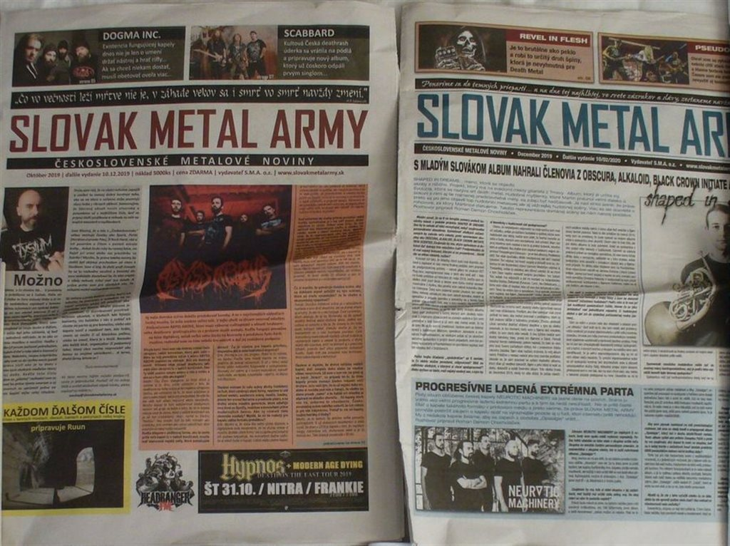 SLOVAK METAL ARMY Nr. 1 a 2