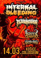 INTERNAL BLEEDING, MICAWBER, VOICES OF RUIN, SACRIFICIAL SLAUGHTER, FLESHGORE - Košice, Collosseum - 14. marca 2018