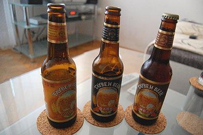 Testované vzorky piva Taybeh